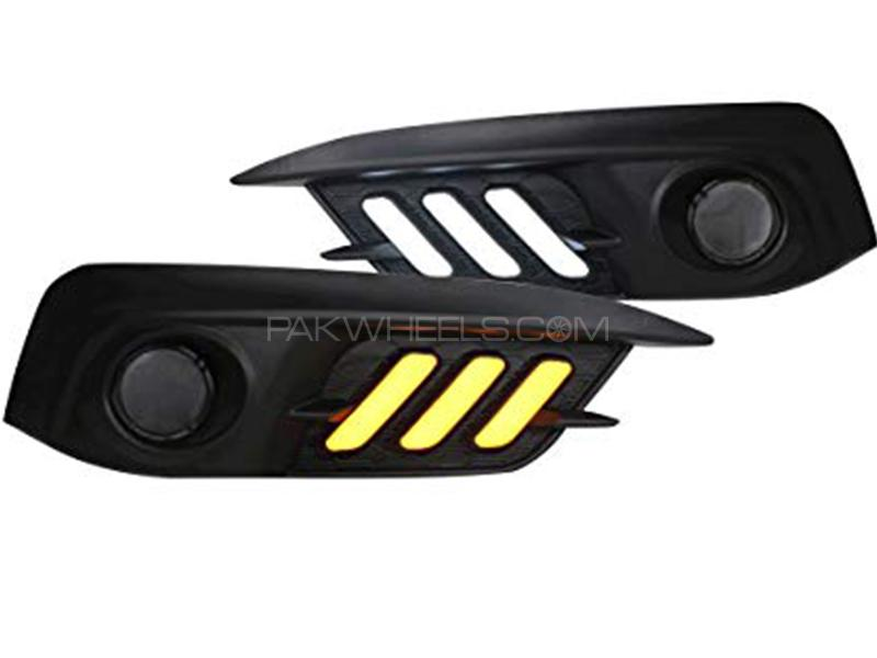 Fog Lamp Cover Mustang Style For Honda Civic 2016-2019 Image-1