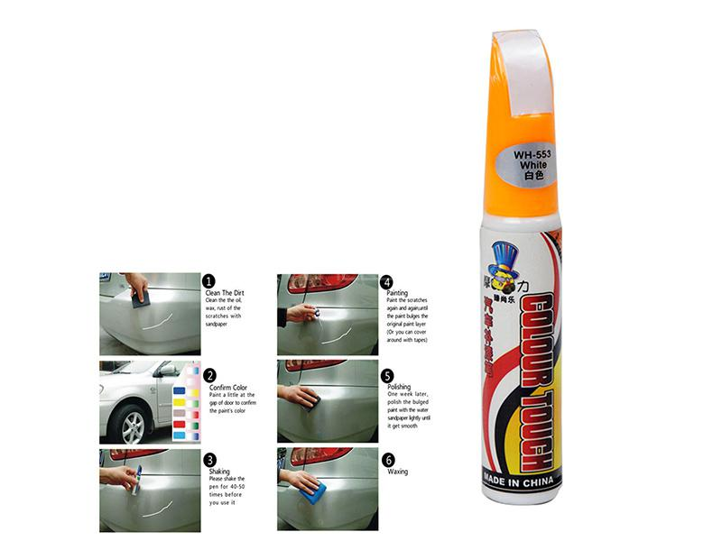 Car Pro Mending Scratch Remover Pen - White in Karachi