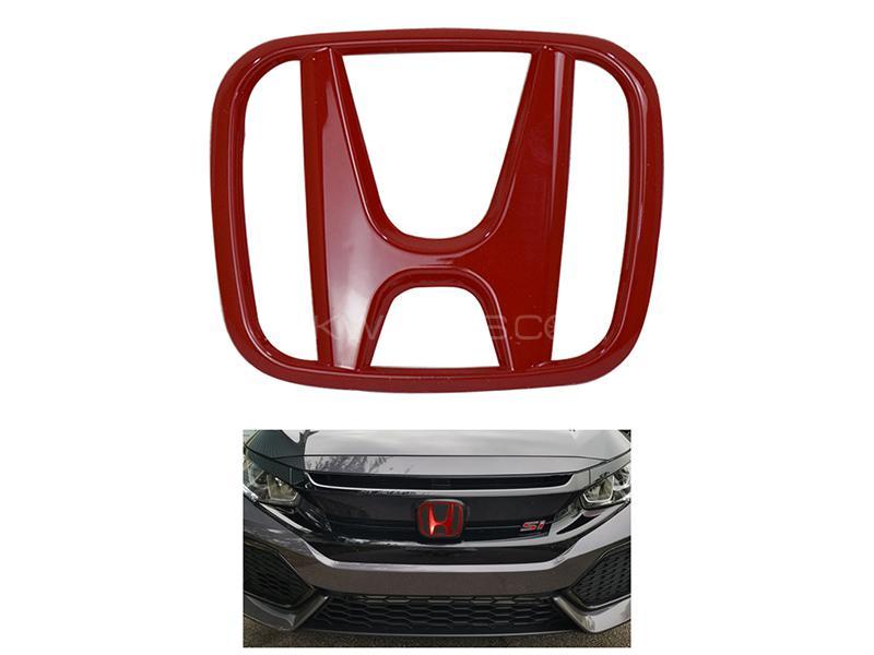 Honda Front Emblem Decal Red Image-1