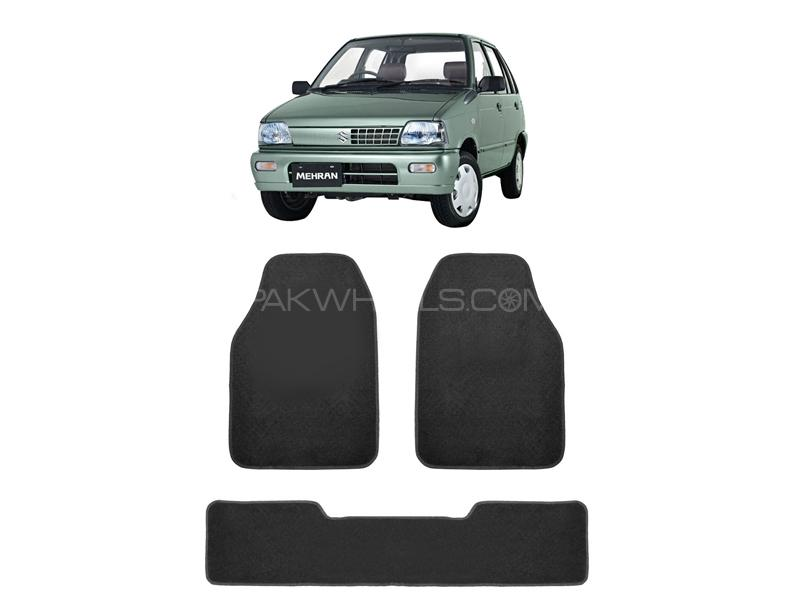 Kenco Carpet Floor Mats For Suzuki Mehran Grey 3pcs in Lahore