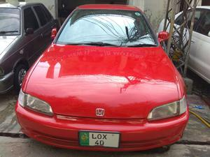 1995 honda civic hatchback red
