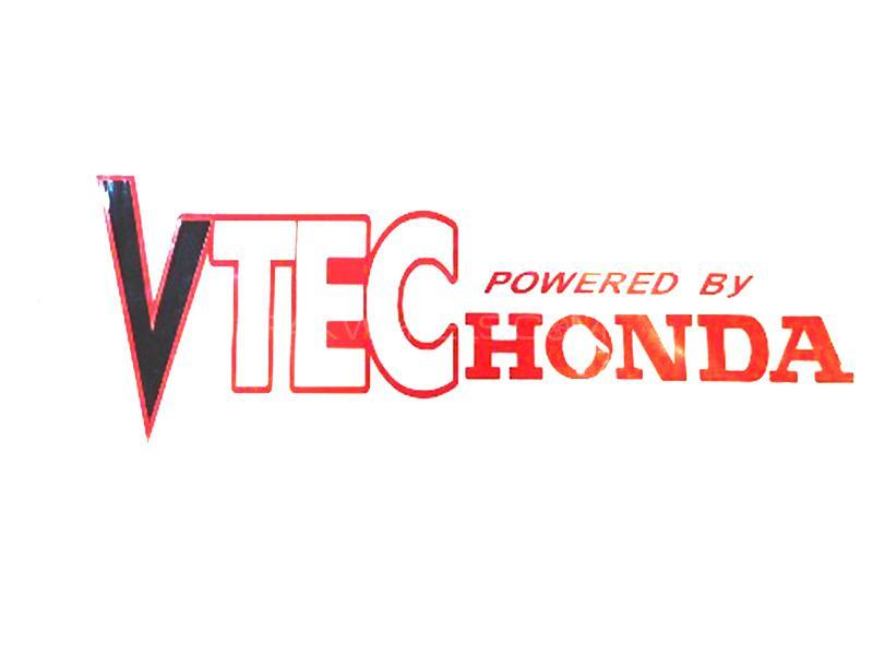 Honda VTec Sticker - Red  Image-1