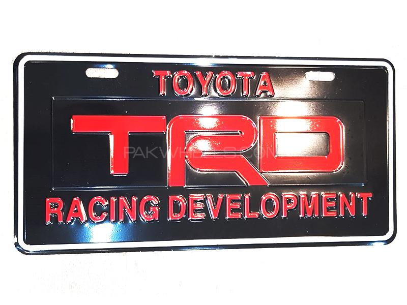 Universal Metal License Plate TRD - Red Image-1