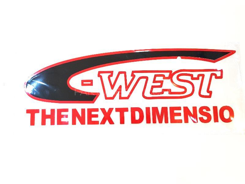 West Dimensio Sticker - Black  Image-1