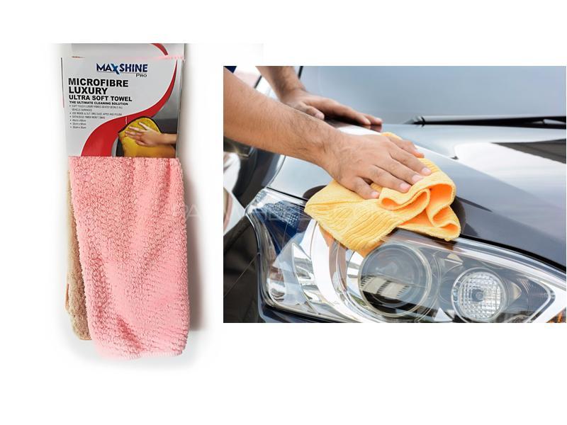 Max Shine Pro Ultra Soft Polishing Microfiber Towel 2pcs Image-1