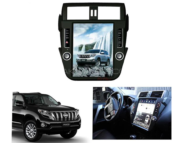 Toyota Prado LCD Multimedia System Android GPS Tesla Style 13 Inch - 2013-2015 Image-1