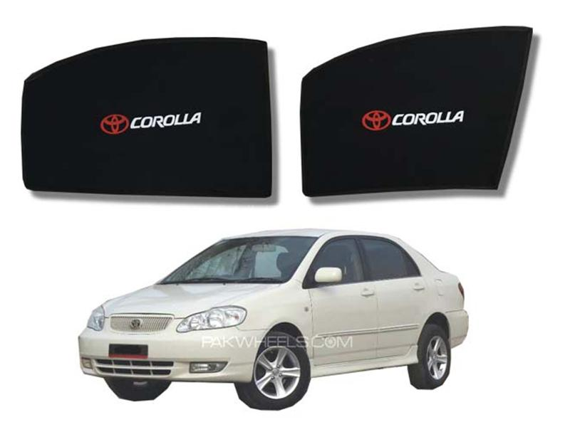 Foldable & Flexible Fix Shades With Logo For Toyota Corolla 2002-2008 - 4 Pcs Image-1