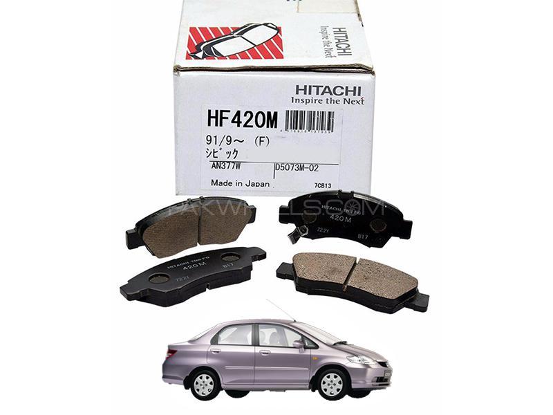 Hitachi Front Brake Pad For Honda City 2003-2006 - HF420M Image-1