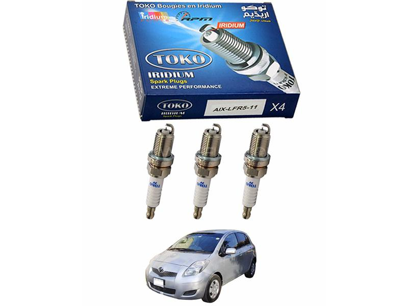 Iridium High Performance Spark Plugs For Toyota Vitz 2011-2014 3pcs Image-1