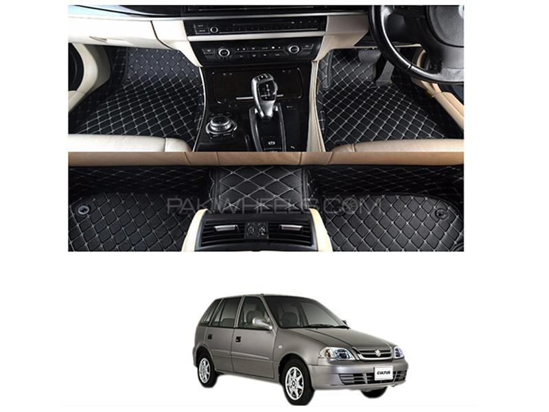7D Floor Mat For Suzuki Cultus 2007-2017 - Black Image-1