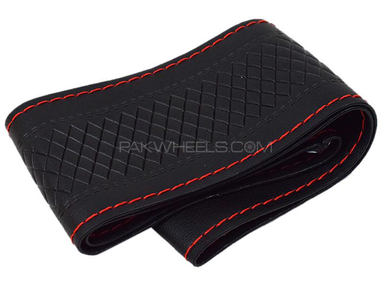 Stitching Steering Cover - Black And Red in Karachi