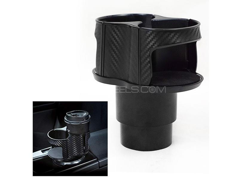 Vehicle Mounted Dual Multi Cup Holder - Black  Image-1