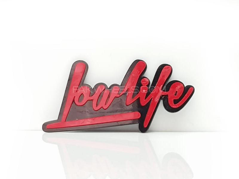 LowLife 2 Red Plastic Pvc Emblem Image-1