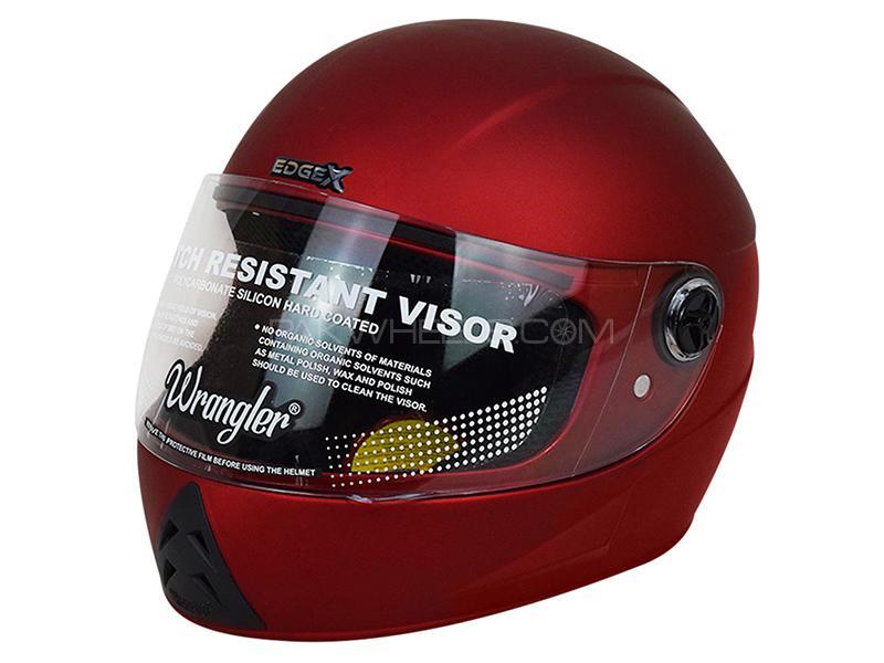 Wrangler Helmet - Matte Red in Karachi