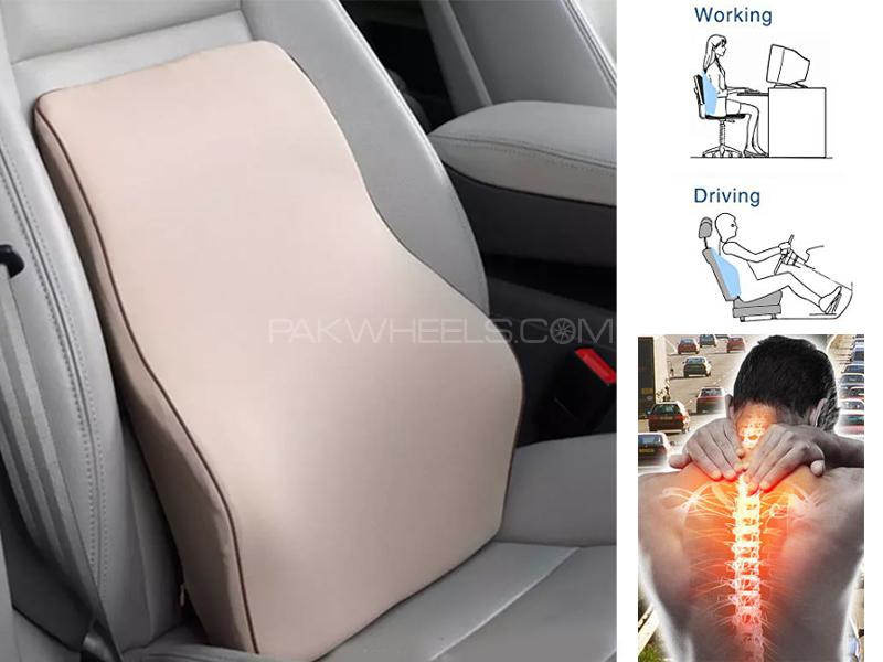 Ultra Comfort Backrest Lumbar Support Cushion  Image-1