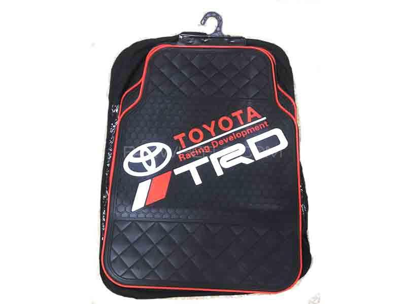 Universal Rubber Floor Mat Black & White - Toyota TRD Image-1