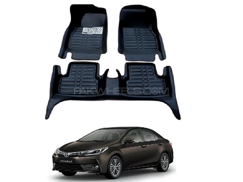 5D Custom Floor Mats Black For Toyota Corolla 2014-2019 in Karachi