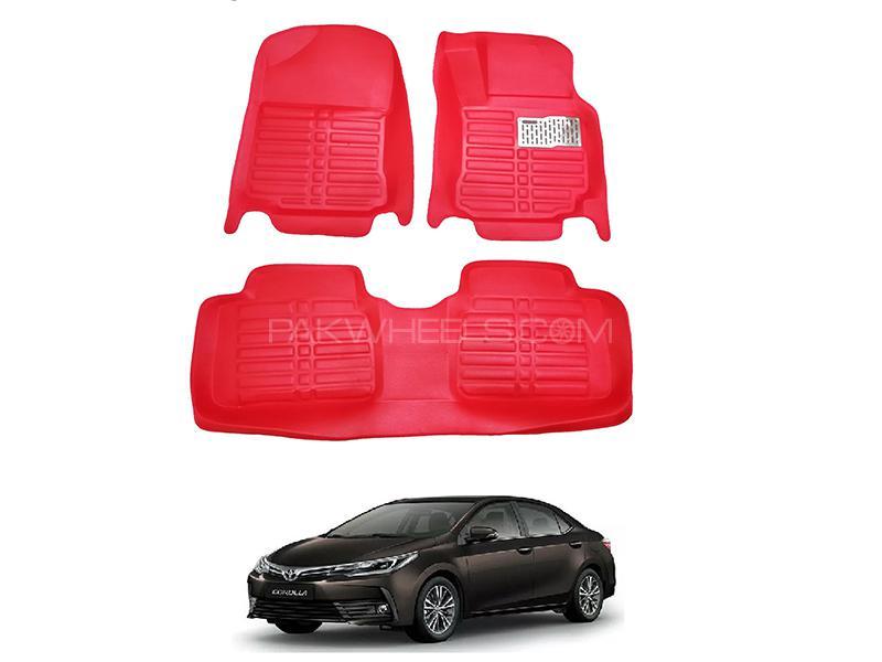 5D Custom Floor Mats Red For Toyota Corolla 2014-2019 Image-1
