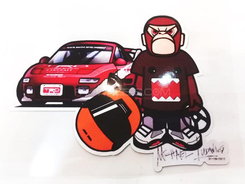 Monkey Face Sticker  Image-1