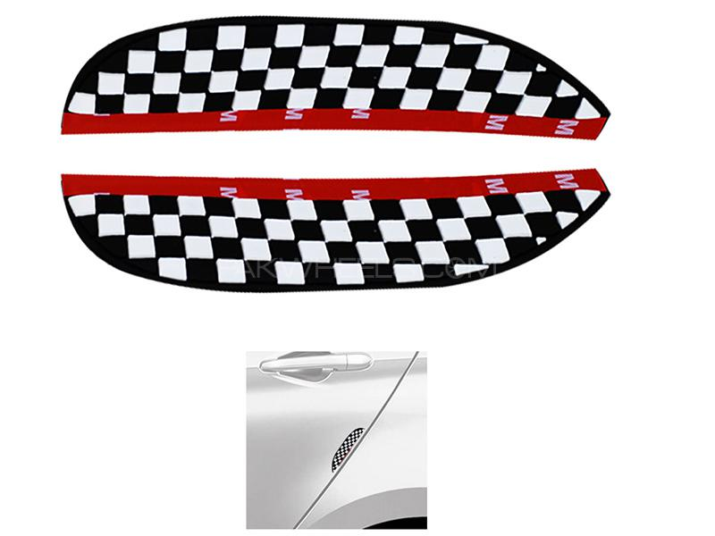 Universal Rubber Door Guard - Check Style Image-1