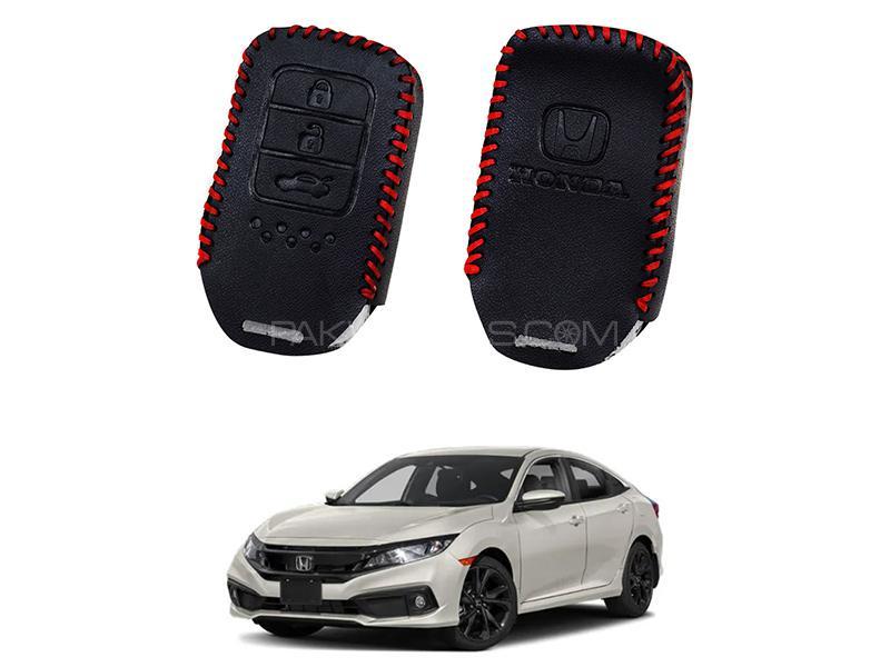 Honda Civic 2016-2019 Keyless Remote Leather Key Cover Image-1