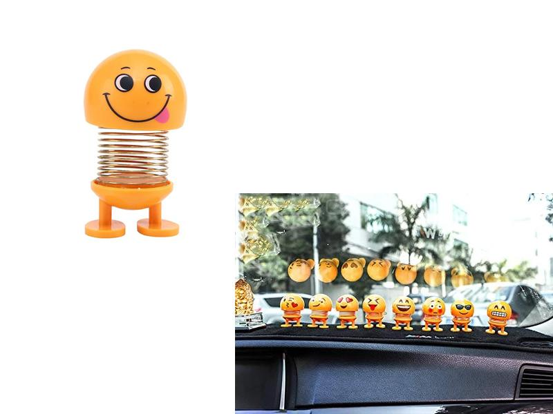 Car Dancing Spring Emoji Toy For Dashboard F1 in Lahore
