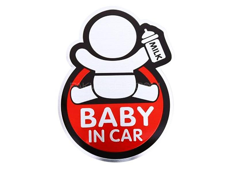 Baby In Car Logo - Red Image-1