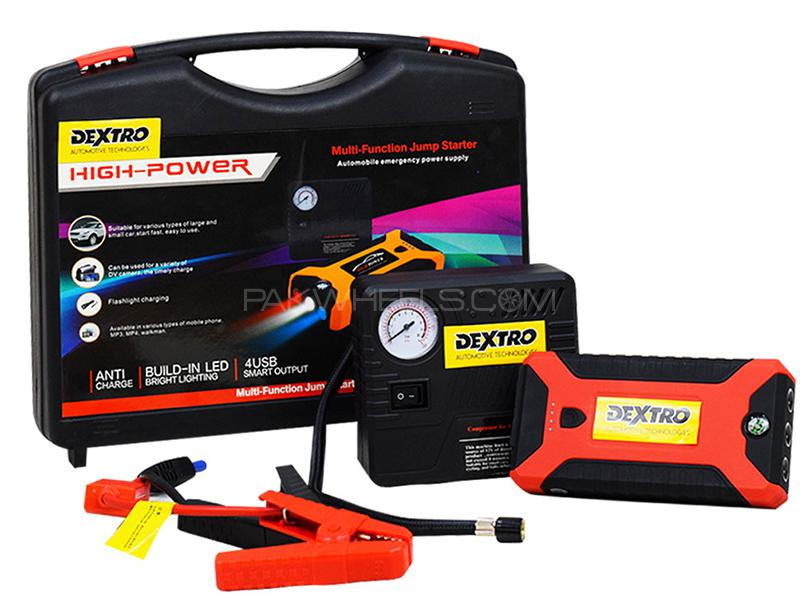 Dextro High Power Multifunction Jump Starter With Air Compressor Image-1