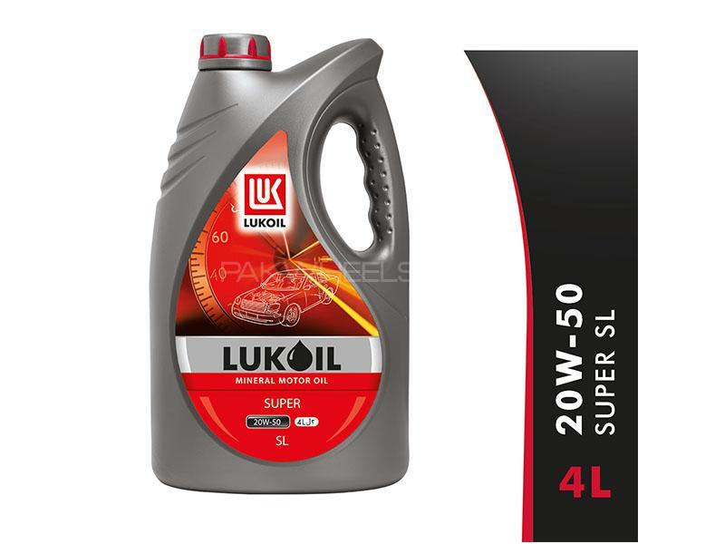Lukoil Super 20w50, API SL Car Gasoline Petrol Engine Motor Oil Lubricant Mineral 4L Image-1