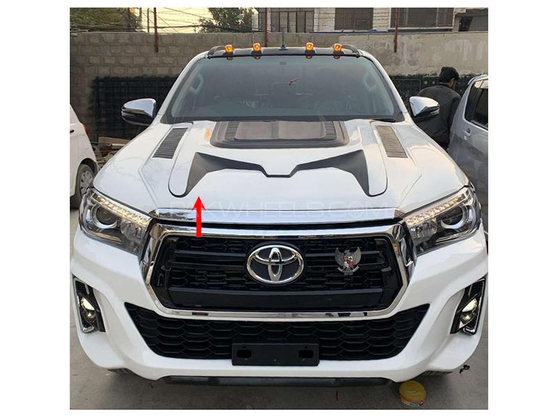 Toyota Hilux Revo 2016-2020 Monde White Bonnet Scoop - Made In Thailand  Image-1