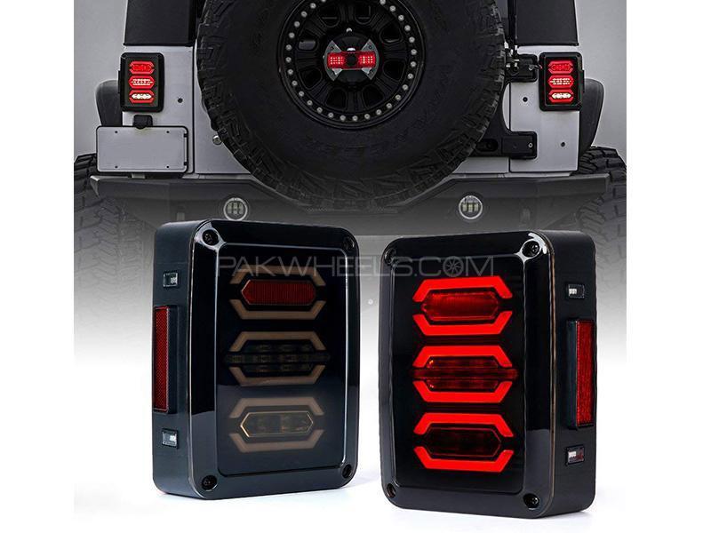 Universal Jeep Wrangler Lava Backlights Black Smoke Drl D3 Image-1