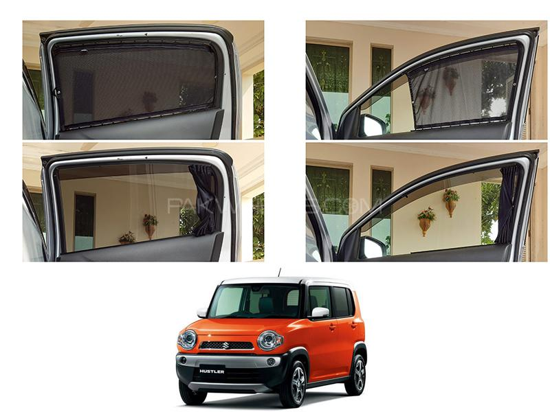 Awra Foldable Fitting Curtain Black Shades For Suzuki Hustler in Lahore