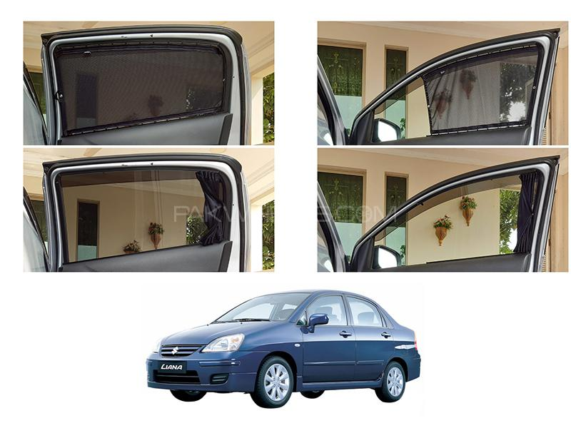 Awra Foldable Fitting Curtain Black Shades For Suzuki Liana in Lahore