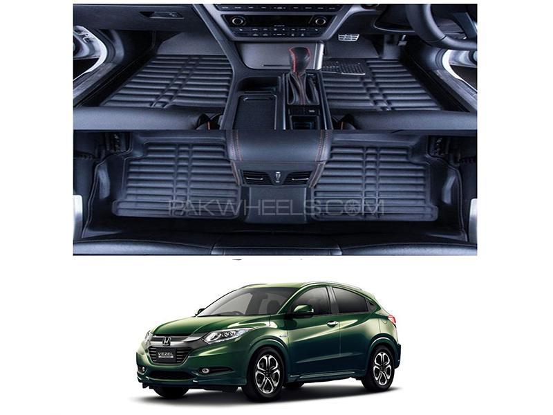 5D Floor Mat For Honda Vezel 2013-2019 - Black Image-1