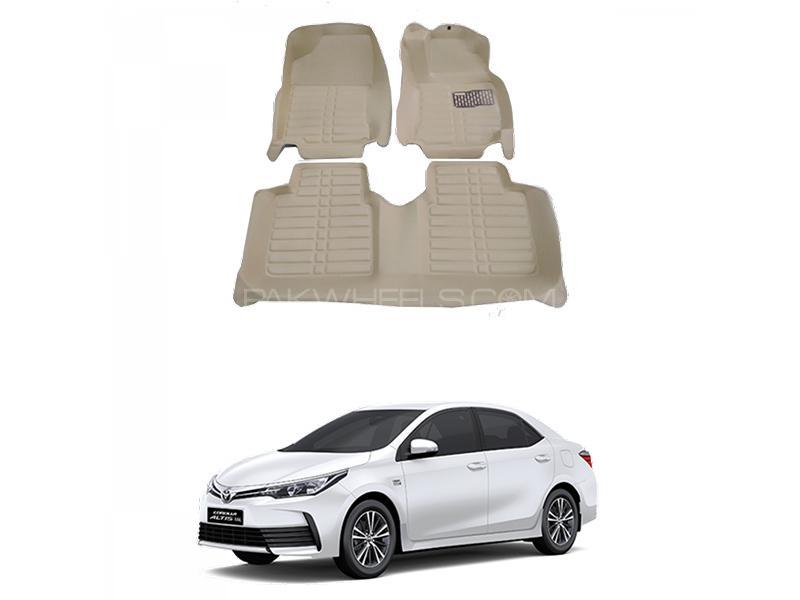 5D Floor Mat For Toyota Corolla 2014-2020 - Beige Image-1