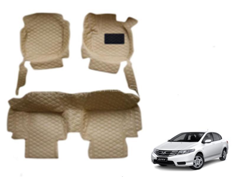 7D Floor Mat For Honda City 2009-2020 - Beige in Karachi