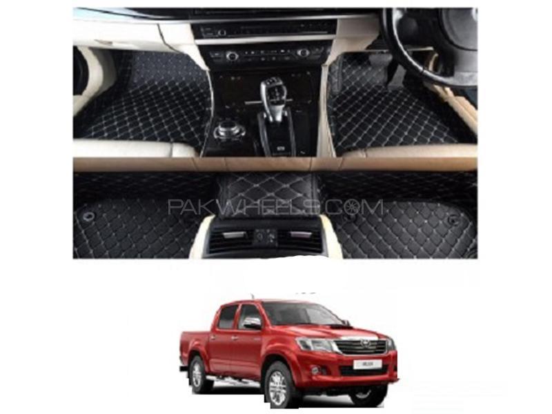 7D Floor Mat For Toyota Vigo 2010-2015 - Black Image-1