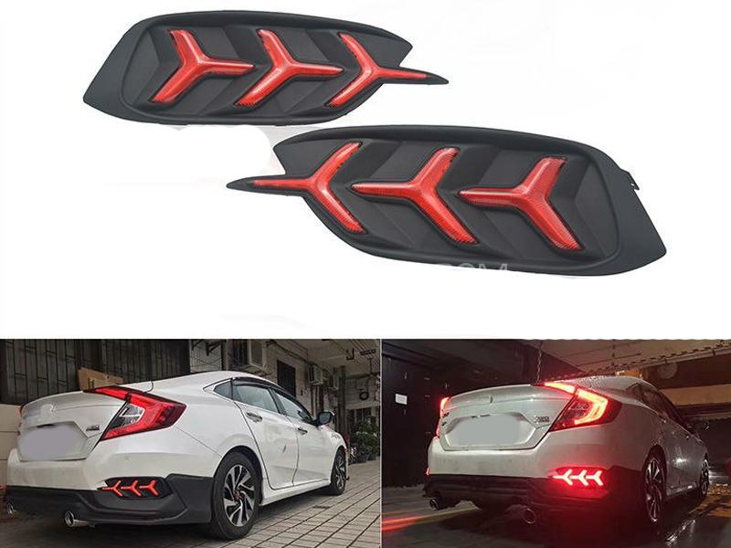 Lambo Style Rear Bumper Light For Honda Civic 2016-2020 Image-1