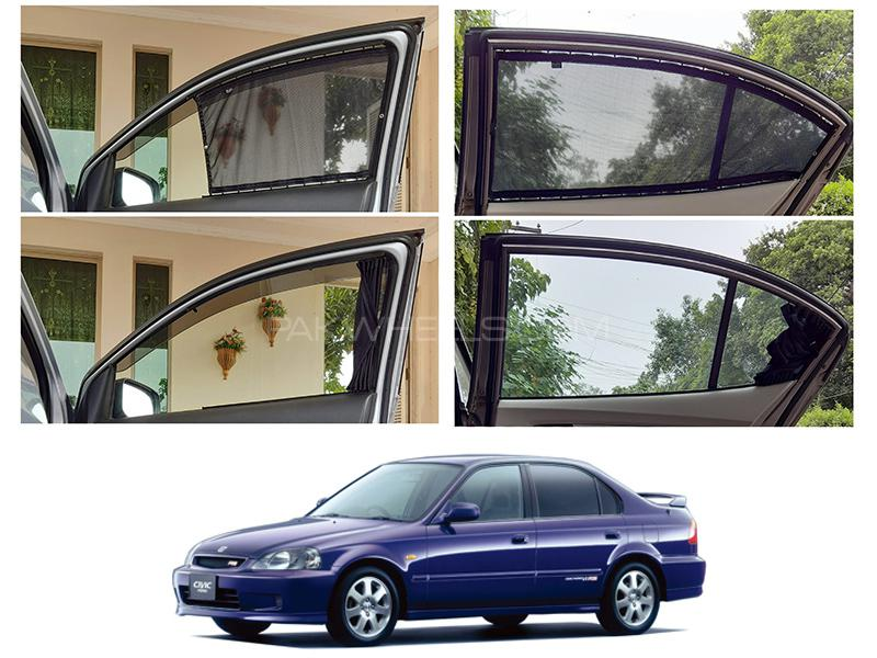 Awra Foldable Fitting Curtain Black Shades For Honda Civic 1996-2000 in Lahore