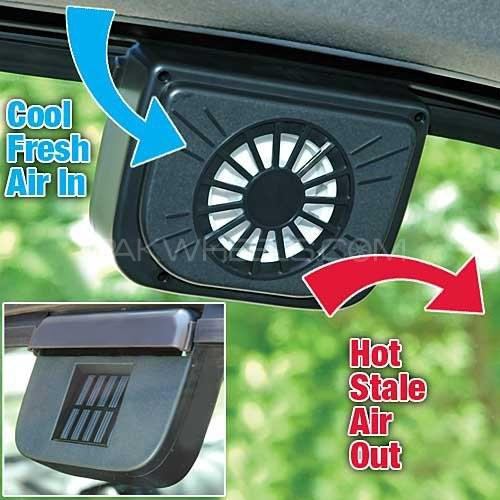 Solar Powered Auto Cool Fan Image-1