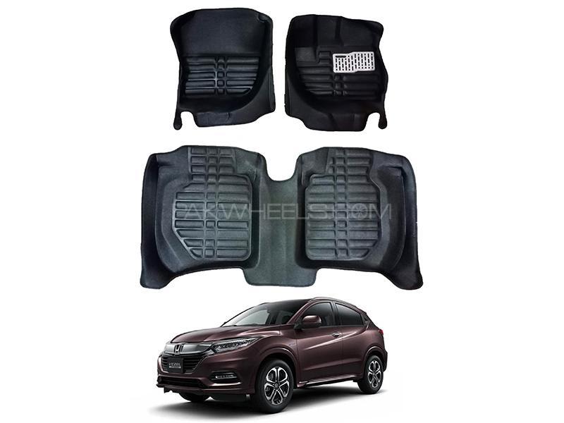 5D Custom Floor Mats Black For Honda Vezel 2013-2020 Image-1