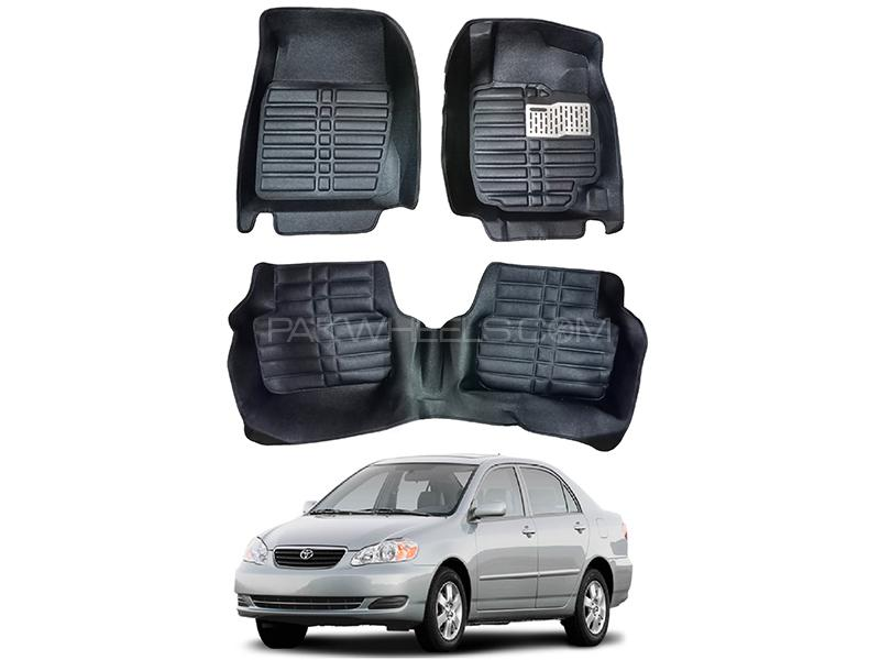 5D Custom Floor Mats Black For Toyota Corolla 2002-2008 in Karachi