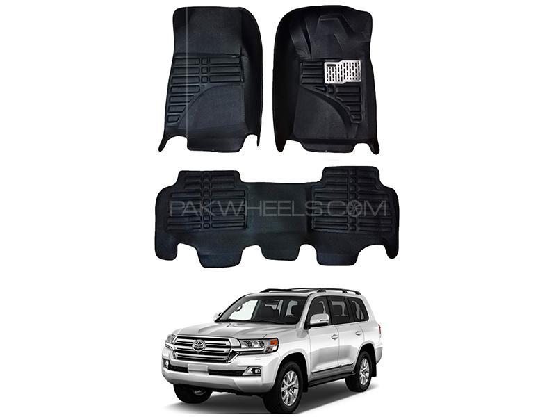 5D Custom Floor Mats Black For Toyota Land Cruiser 2006-2016 in Karachi