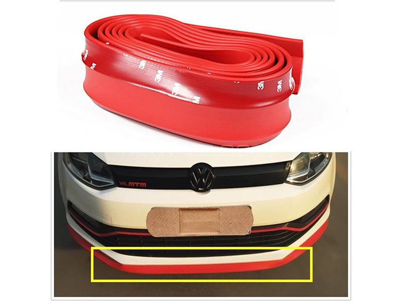Universal Bumper Rubber Extension - Red Image-1