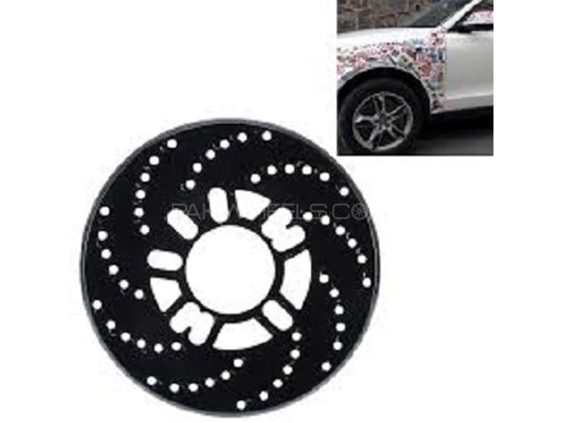 Universal Wheel Disc Brake Cover - Black Image-1