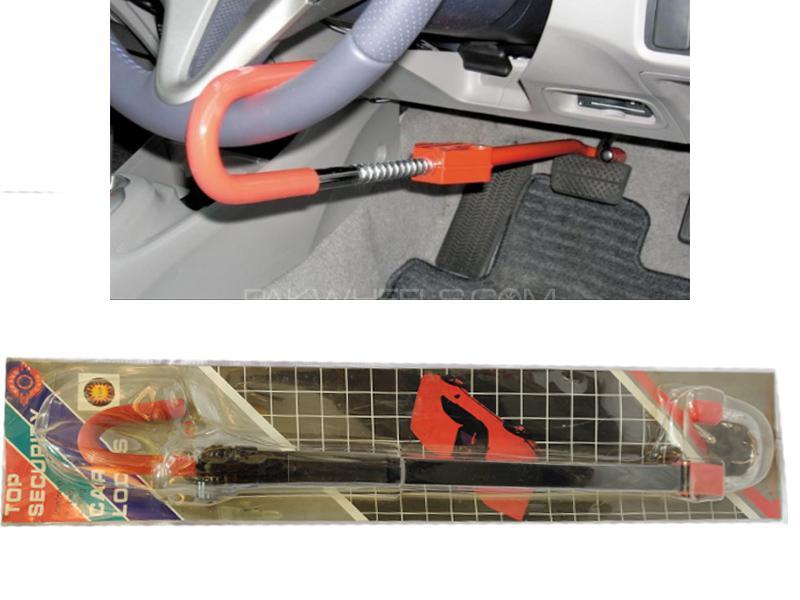 Car Steering Crook Lock Anti Theft Wheel Clutch Lock Black in Lahore