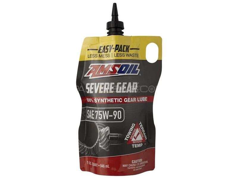 Amsoil Severe Gear Manual Transmission Synthetic Lube 75W-90 946ml Image-1