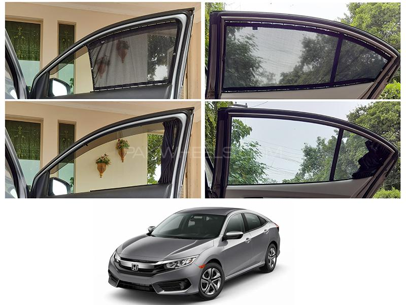 Awra Foldable Fitting Curtain Black Shades For Honda Civic 2016-2020 in Lahore