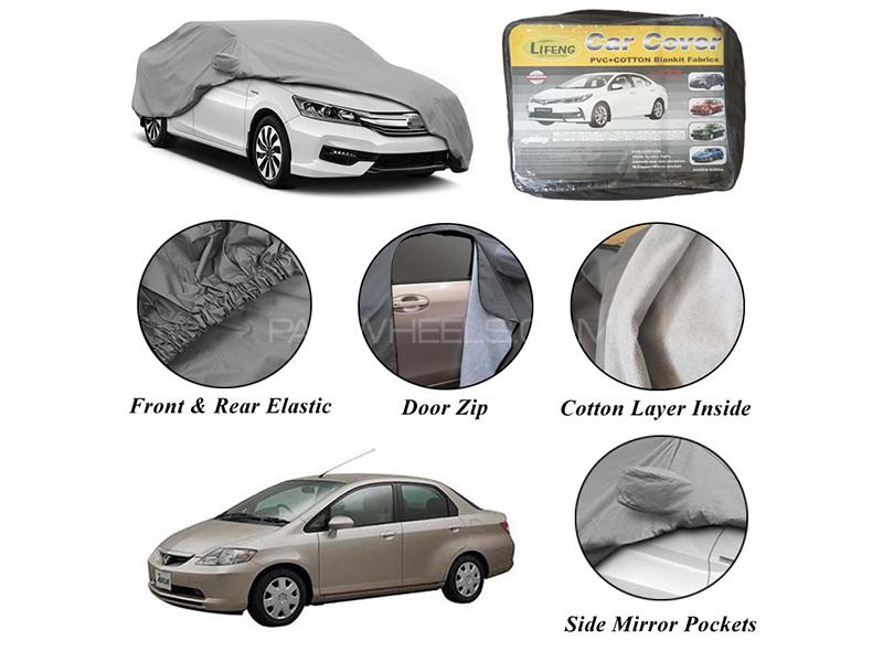 Honda City 2003-2006 Non Wooven Inner Cotton Layer Car Top Cover  Image-1