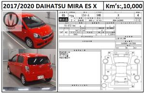 DAIHATSU MIRA ES X  2017 MODEL  RED COLOUR 10,000 KM GRADE 4   Merchants Automobile Karachi Branch, We Offer Cars With 100% Original Auction Report Based Cars With Money Back Guarantee.  Recommended Tips To Buy Japanese Vehicle:  1. Always Check Auction Report. 2. Verify Auction Report From Someone Else. 3. Ask For Japan Yard Pics If Possible.  MAY ALLAH CURSE LIARS..